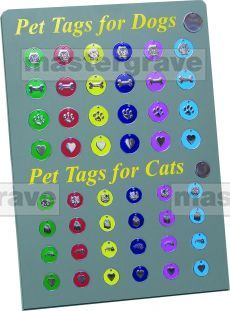 New pet tags for dogs and cats, colourful pet tags