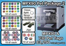 Metaza MPX-90 Pet Tag Engraving Starter Pack 2