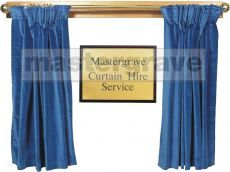 Presentation Curtain Hire royal blue colour