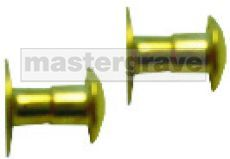 Brass Quick Rivets for Horse Tack Plates (BQR)