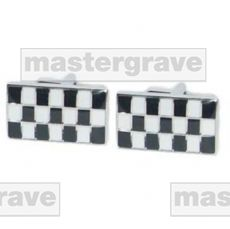 Black & White Chequered Design Cufflinks (NCUFF55)